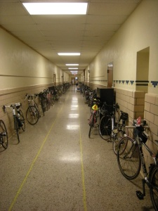 Bikes in hallway, Cottonwood 200