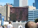 Watching the big screen