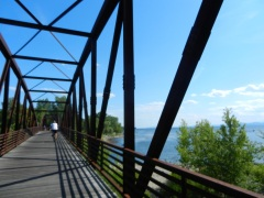Winooski River bridge, Burlington bike path