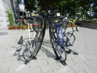 Bicycle rack at McGill University